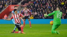 Maya Yoshida scores the only goal of the game for Southampton Photograph: Reuters/Hannah McKay