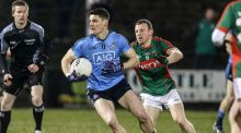 Dublin's Diarmuid Connolly (l) and Colm Boyle of Mayo Photograph: ©INPHO/Andrew Paton