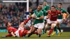 All the action from off and on the pitch as Ireland's defence of the Six Nations gets underway against Wales at the Aviva stadium.