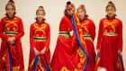 NEW YEAR: Members of the Chinese Irish Cultural Academy of Dance attending the Dublin Chinese New Year's festival in the Chq building  at Georges Dock, Dublin. Photograph: Dara Mac Dónaill/The Irish Times