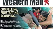 The front page of the Western Mail after Ireland's Six Nations draw with Wales.