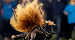 SUPER BOWL: Beyoncé performs during the Super Bowl 50 halftime show at Levi's Stadium in Santa Clara, California. Photograph: Ezra Shaw/Getty Images