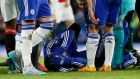 Chelsea's Kurt Zouma injured his anterior cruciate ligament in Sunday's 1-1 Premier League draw with Manchester United. Photograph: Reuters