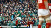 Jonathan Sexton kicks the penalty to  ensure a draw at the  Aviva Stadium. In previous years,  the home team would have  gone for a try to keep Triple Crown and Grand Slam hopes alive. Photograph: James Crombie/Inpho