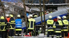 At least nine killed as trains collide in southern Germany