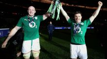 Brian O'Driscoll has paid tribute to Paul O'Connell after his old team mate announced his retirement from professional rugby. Photograph: Inpho