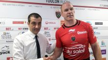 Paul O'Connell, with RC Toulon owner  Mourad Boudjellal, has said being unable to represent the French side is 'a big disappointment.' Photograph: INpho