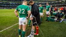 Dan Biggar may be available for Wales' game against Scotland despite spraining his ankle against Ireland. Photograph:  James Crombie/Inpho