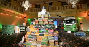At Britvic's employee conference,  the warehouse operative and customer management teams' ideas included building  pyramids of products