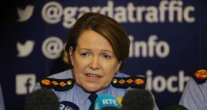 Garda Commissioner Noirin O'Sullivan told the press conference at Garda HQ the force was liaising with law enforcement agencies overseas. Photograph: Niall Carson/PA