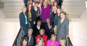 Current and former female members of the Oireachtas in Leinster House. Photograph: Houses of the Oireachtas collection