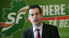 Sinn Féin's Pearse Doherty: the party is promising to build 70,000 social housing units. Photograph: Alan Betson