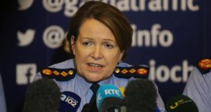 Garda Commissioner Nóirín O'Sullivan speaking at a press conference on gang violence at Garda headquarters in Dublin. Photograph: Niall Carson/PA