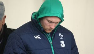 Keith Earls sat out Ireland's training session at carton House on Tuesday. Photograph:  Billy Stickland/Inpho