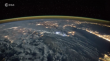 Lightning strikes as seen from space