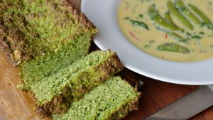 Drop Egg Soup and Courgette Bread.Photograph: Alan Betson