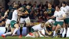South Africa's flanker Marcell Coetzee in  action against Ireland in 2014. Photograph: Getty Images