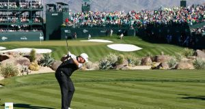 Shane Lowry  tees off on the 16th hole during the third round of the Waste Management Phoenix Open at TPC Scottsdale. Photograph: Scott Halleran/Getty Images