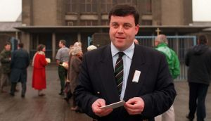 Brian Lenihan on his first campaign in 1996. Photograph: Jack McManus