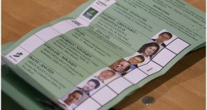 "Candidate numbers are also concentrated in Dublin Bay North, which has been described as a ""constituency of death"" because of the competition. The ballot paper is likely to be about 45 cm (18 inches) long. File photograph: Bryan O'Brien"