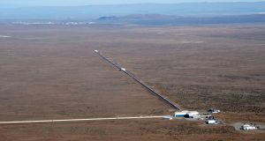 There are two LIGO detectors (above) in the US, one in Washington state and another in Louisiana, about 3,000km apart. Each arm of the L-shaped detectors measures about 4km. Lasers fire beams of light along these arms.