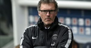 Paris St-Germain coach Laurent Blanc has extended his contract with the French champions until 2018. Photograph: Getty Images