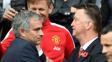 Manchester United have yet to contact Jose Mourinho, and remain behind current manager Louis van Gaal. Photograph: Martin Rickett/PA