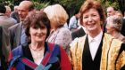 Friends since university: Eavan Boland and Mary Robinson at Trinity College Dublin, where they met in the 1960s. Photograph courtesy of Eavan Boland