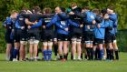The Leinster forwards form a huddle in training ahead of the visit of Zebre. Photograph: Donall Farmer/Inpho
