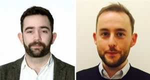 Barry Johnston (left) and Ed Davitt (right) have both announced their intention to run as independent candidates for the Seanad from abroad.