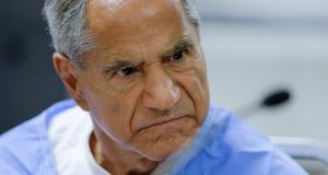 Sirhan Sirhan reacts during a parole hearing on Wednesday  in San Diego: he was denied parole  after   telling a board  he could not remember shooting Robert F Kennedy  and was therefore unable to confess. Photograph: Gregory Bull/AP Photo