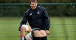 Leinster's  Ross Molony during training. Photograph: Donall Farmer/Inpho