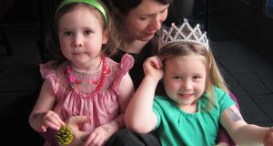 Emma Sides and her children Aoibhín Little (3) and Eloise Little (5, on right)