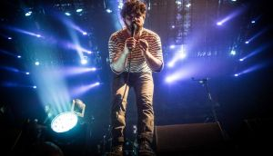 Yannis Philippakis of Foals at the  3Arena in  Dublin. Photograph: Ruth Medjber