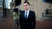 Adam Johnson leaves Bradford Crown Court where he has pleaded guilty to grooming and sexual activity with a 15-year-old girl on the first day of his trial. Photograph:  Peter Byrne/PA Wire
