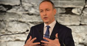 Micheál Martin: Doggedly insisted  he's still in the fight for the top job. He says he'll be putting his name forward for taoiseach, when the time comes. Photograph: Alan Betson / The Irish Times