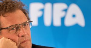 Former Fifa secretary general Jerome Valcke has been banned for 12 years. Photograph: AP