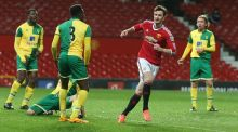 Will Keane's five goals for Manchester United U-21s against Norwich have been rewarded with a place in Louis van Gaal's first team squad for Saturday's trip to Sunderland. Photograph: Getty