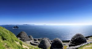 Star Wars: Skellig Michael, where scenes for The Force Awakens were shot. Photograph: Chris Hill/Getty