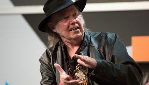 Neil Young, who sent Donald Trump a cease and desist letter after the Trump campaign used Rockin' in the Free World at its rallies. Photograph:  David Paul Morris/Bloomberg
