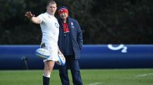 England head coach Eddie Jones (right) and captain Dylan Hartley. Photograph: PA