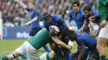 France's substitute prop Eddy Ben Arous in actionat the Stade de France Stadium. Photograph: Getty Images