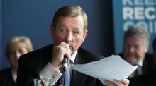 Taoiseach Enda Kenny during the launch of Fine Gael's election manifesto. Photograph: Gareth Chaney/Collins