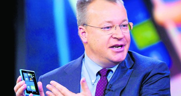 When Stephen Elop likened Nokia to a burning platform, he spoke the truth. Yet it was a disaster. Photographer: Jin Lee/Bloomberg