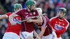 Niall Burke of Galway impressed in the win over Cork. Photograph: Mike Shaughnessy/Inpho