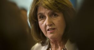 A planned debate in Irish between the party leaders was cancelled due to the lack of fluency of both Labour leader Joan Burton and Sinn Féin president Gerry Adams. Photograph: Dara Mac Dónaill/The Irish Times