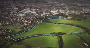 The  Newbridge site was acquired for  €58m in  2006 but is now guiding just €6 million