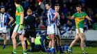 Ballyboden St Enda's Declan O'Mahony is shown a red card during the AIB All-Ireland club semi-final against Clonmel Commercials.  Photograph: Donall Farmer/Inpho