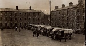 """Inspection of Motor Ambulances at the Royal Barracks, May 27th."" Photograph: TW Murphy/willowdesign.com"