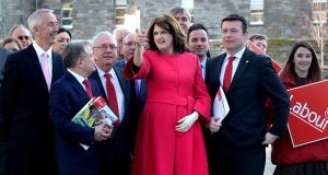 Tánaiste and Labour leader Joan Burton at St Laurence O'Toole church at DIT in Grangegorman. Photograph: Cyril Byrne